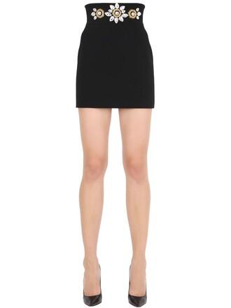 skirt mini skirt mini embellished black