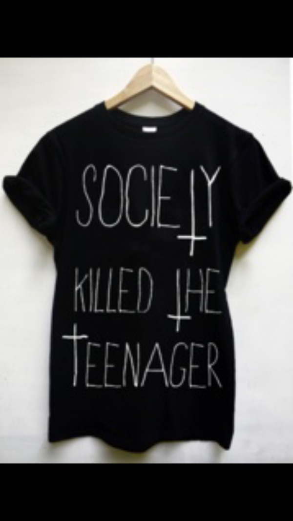 t-shirt teenagers white print