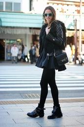 fashion vibe,skirt,shoes,t-shirt,bag,jacket,sunglasses