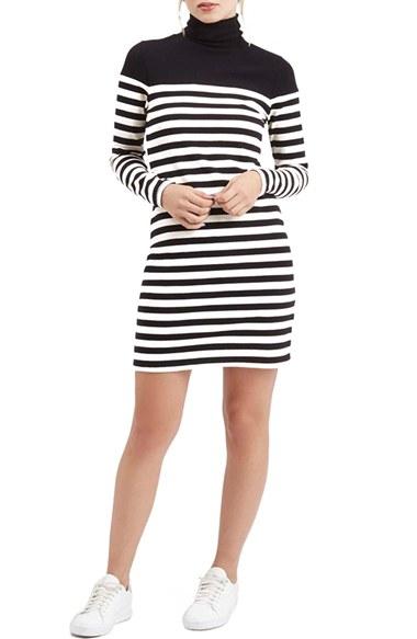 ef902f9cc3 Topshop Stripe Turtleneck Dress