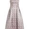 Alina strapless satin-jacquard dress