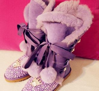 shoes ugg boots boots purple princess barbie winter boots snow boots purple shoes flat boots