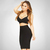 Bqueen Black Halter two-pieces Set Strap Bandage Dress H1085
