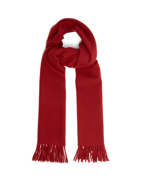 Acne Studios scarf wool red