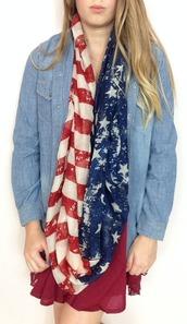 scarf,patriotic,infinity scarf,american flag