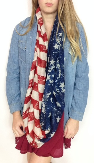 scarf patriotic infinity scarf american flag