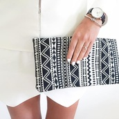 bag,aztec,artisan,fabric clutch,print clutch,clutch,summer outfits,zara