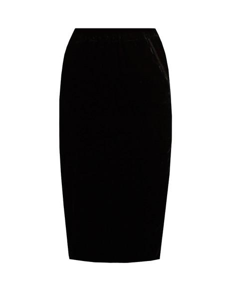 JUPE BY JACKIE skirt velvet skirt silk velvet black