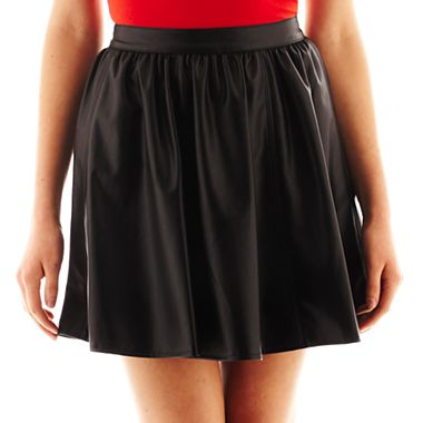 Decree® Pleather Skater Skirt - JCPenney