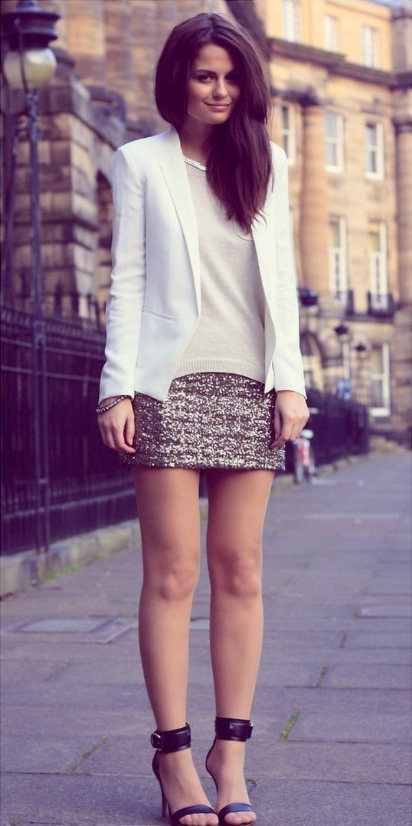 Short Sequin Skirt
