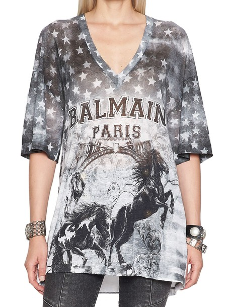 Balmain t-shirt shirt t-shirt multicolor top