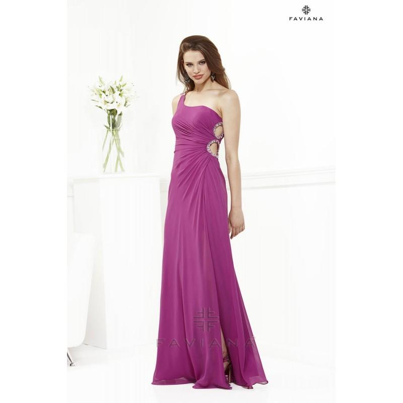 Faviana 6953 Plum,Royal Dress - The Unique Prom Store