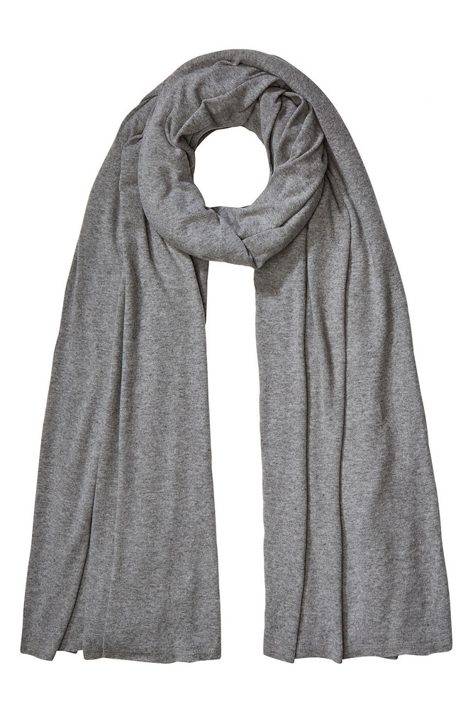 American Vintage Jersey Scarf  in grey