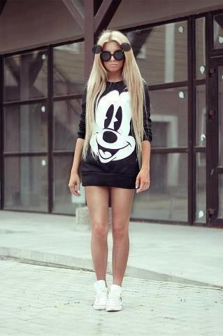 Mickey sweater dress