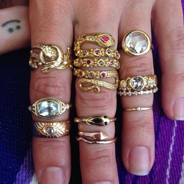 jewels rings and tings snake gold ring gypsy boho indie snake ring