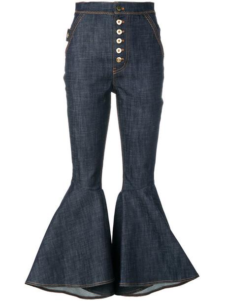 jeans high women spandex cotton blue