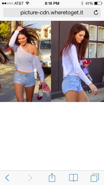 T Shirt Celebrity Style Kendall Jenner Everyday Shorts Spring Outfits Summer Wheretoget