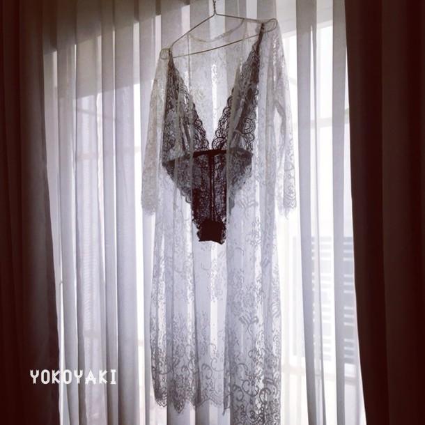 A Fashion Love Affair wears a black white underwear from Yokoyaki ... dce550e7d