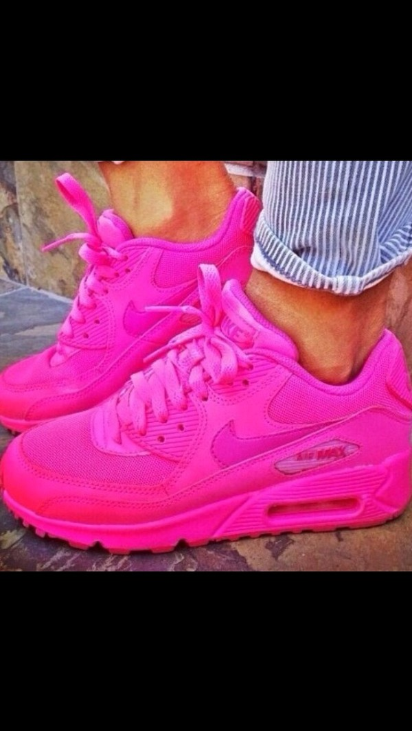 shoes nike nike air force air max hot pink nike air max neon pink nike air max nike air max 90 air max 90s hot pink nike shoes nike air
