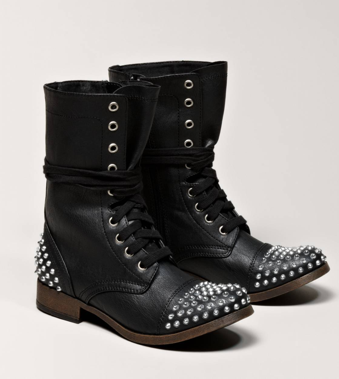 Combat Studded Boots