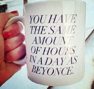 jewels beyonce mug black white red