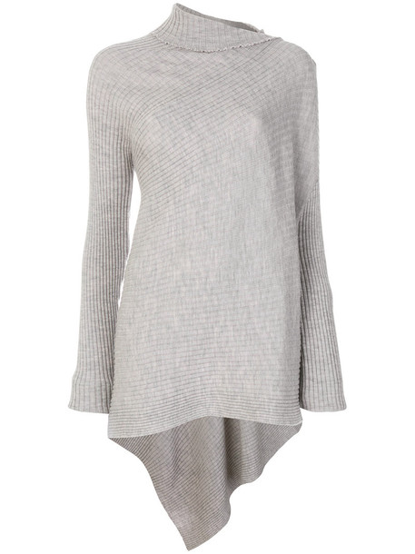 Marques'almeida - ribbed tunic - women - Merino - M, Grey, Merino