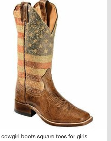 american flag shoes cowgirl boots square toe