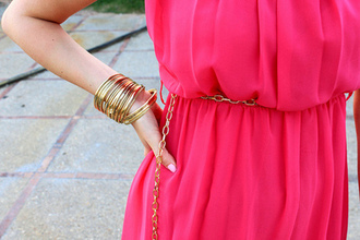 dress pink neon