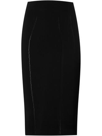 skirt pencil skirt knit black