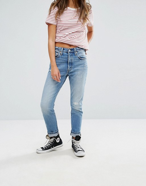 cheapest to buy outlet boutique Levis 501 Skinny Jean with Distressing at asos.com