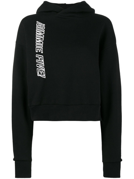 hoodie women cotton black sweater