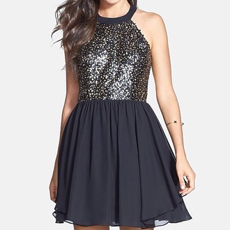 dress black dress halter dress