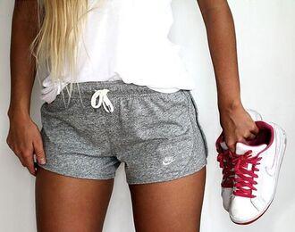 shorts grey nike nike shoes shoes gym shorts pants pajamas athletic sportswear workout