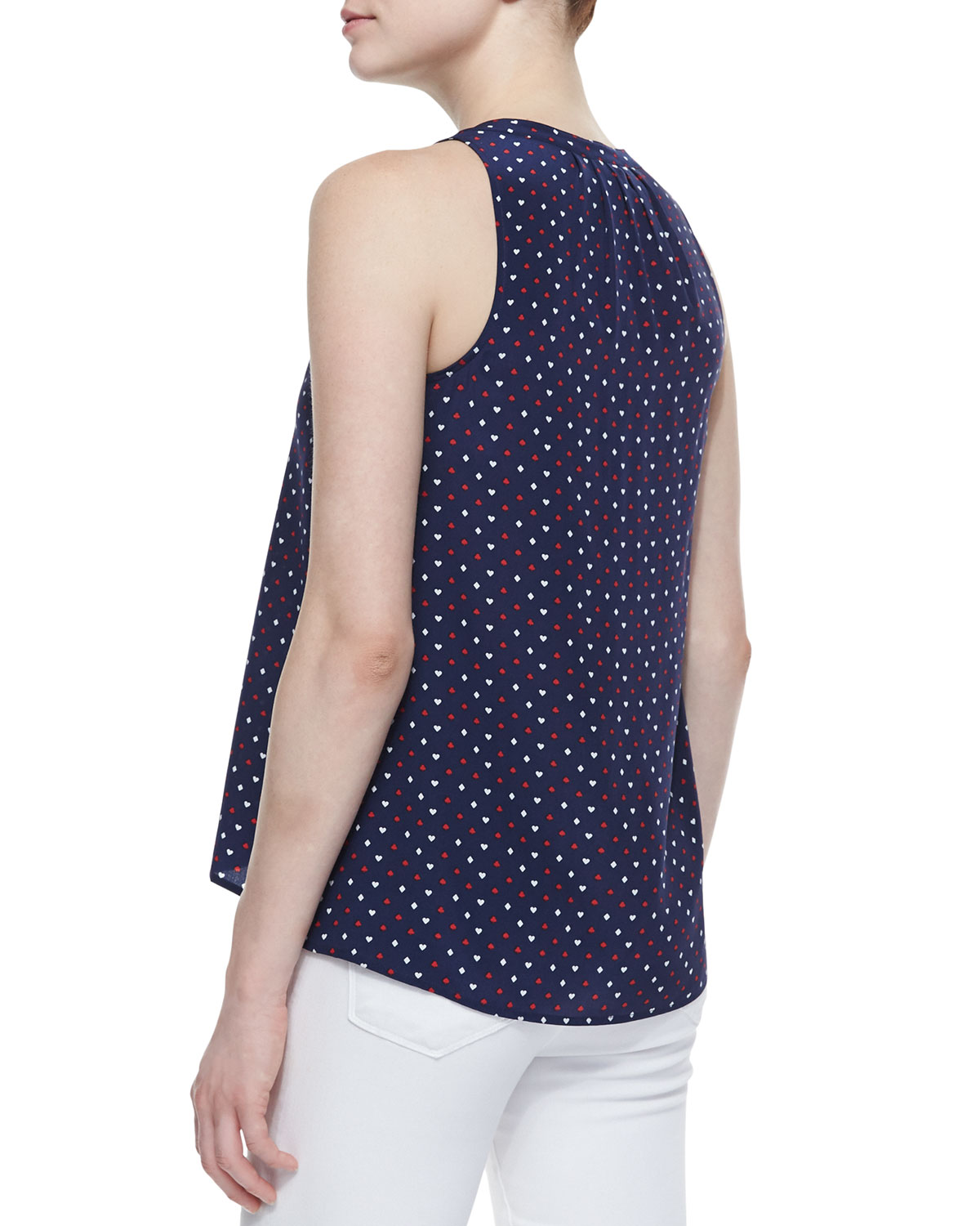 Aruna Playing Cards Silk Printed Tank Top