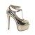 Metallic Gold 6 Inch Platform Heels