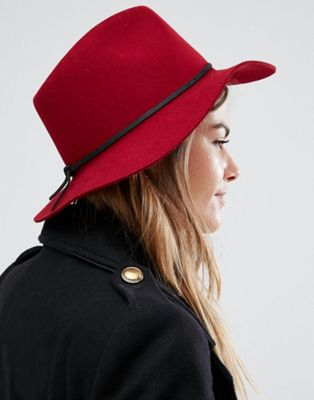 Brixton Wesley Fedora in Red at asos.com