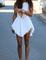White plain round neck sleeveless symmetrical hem pleated dress