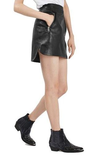 skirt leather skirt mini skirt