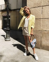 yellow,blazer,casual,missguided,sporty,sports shoes
