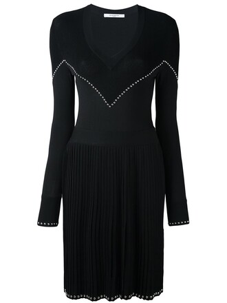 dress studded knit black