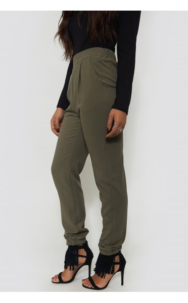 Khaki Tapered Trousers - from The Fashion Bible UK