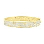 jewels,fashion accessory,jewelry,bracelets,gold bangles,fashion,hand jewelry,fleur bloom hinge bangle,fleur bloom