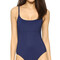 Karla colletto skinny scoop swimsuit - navy