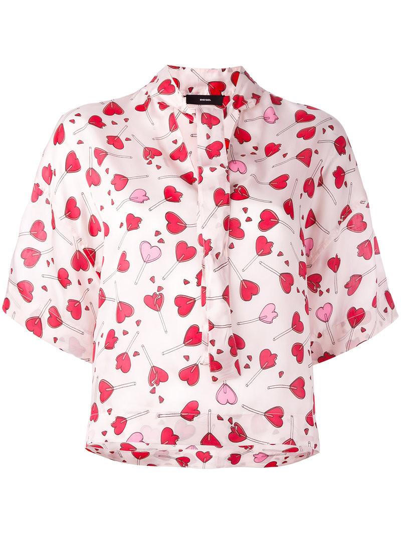 Блузка С Сердечками С Доставкой