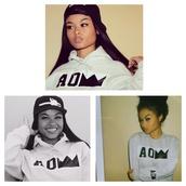 india westbrooks,hoodie,sawgg,dope,white,black,the westbrooks