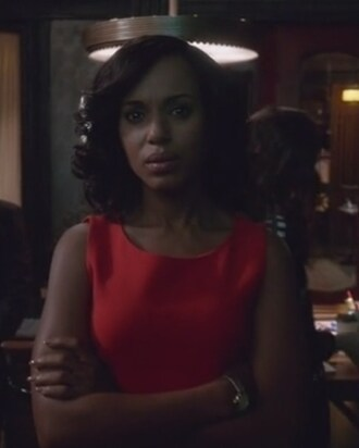 dress crepe red sheath scandal olivia pope kerry washington