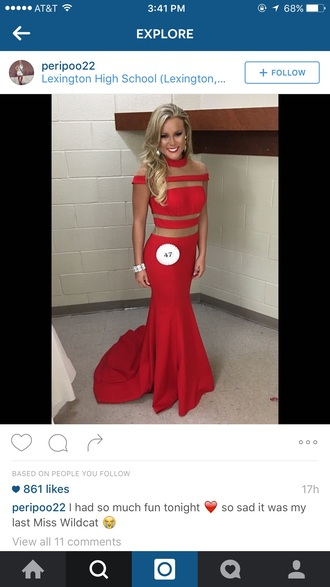 dress red dress prom dress mesh stripes top