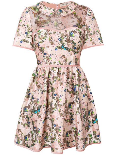 dress mini dress mini women floral print silk