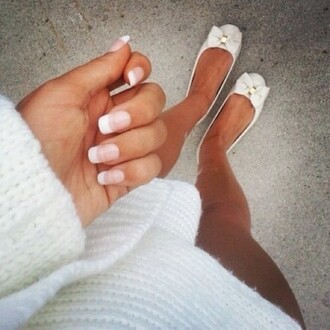 shoes wow sweet white gold streetwear ballet flats bows