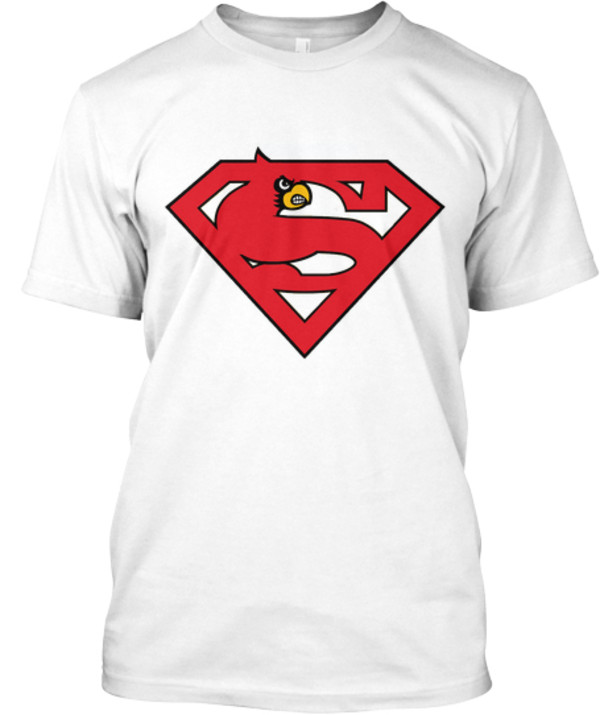 Ltd superman louisville cardinals tee shop with cre for Louisville t shirt printing